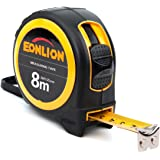 EONLION Measuring Tape Measure 8m/26ft(25mm) Power Locking Tape Ruler Inches and Matric Measuring Tape with Magnetic Hook, Wrist Strap for Construction, Craft, Home, Carpentry Measurement