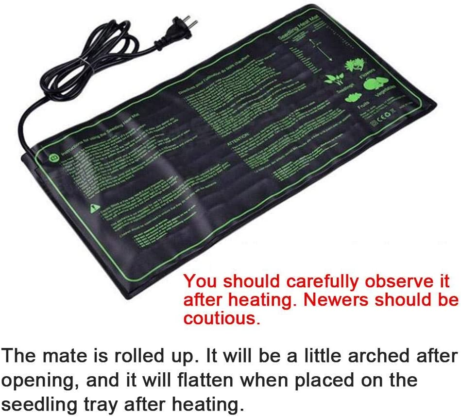 Seedling Heat Mat IP67 Waterproof Plant Heating Mat Foldable Hydroponic Heating Pad for Indoor Outdoor Gardening Greenhouse,18W 45W 105W