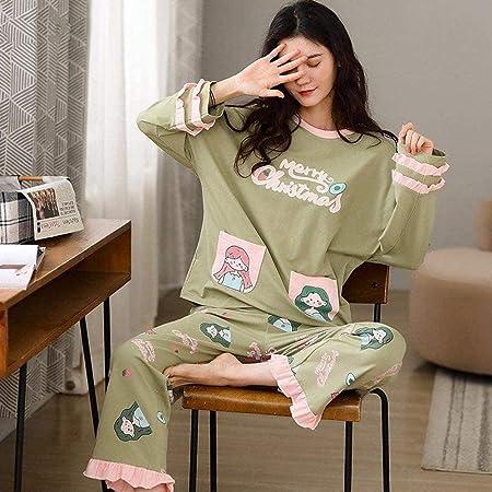 JJHR Conjuntos de Pijamas de algodón Bonitos de Dibujos ...