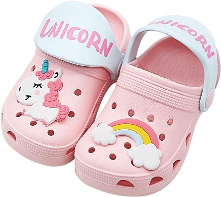 Toddler//Little Kid//Big Kids Kids Unicorn Slide Sandals Lightweight Summer Beach Boys Girls Shower Pool Slipper Non-Slip Cute Fruit Water Shoes