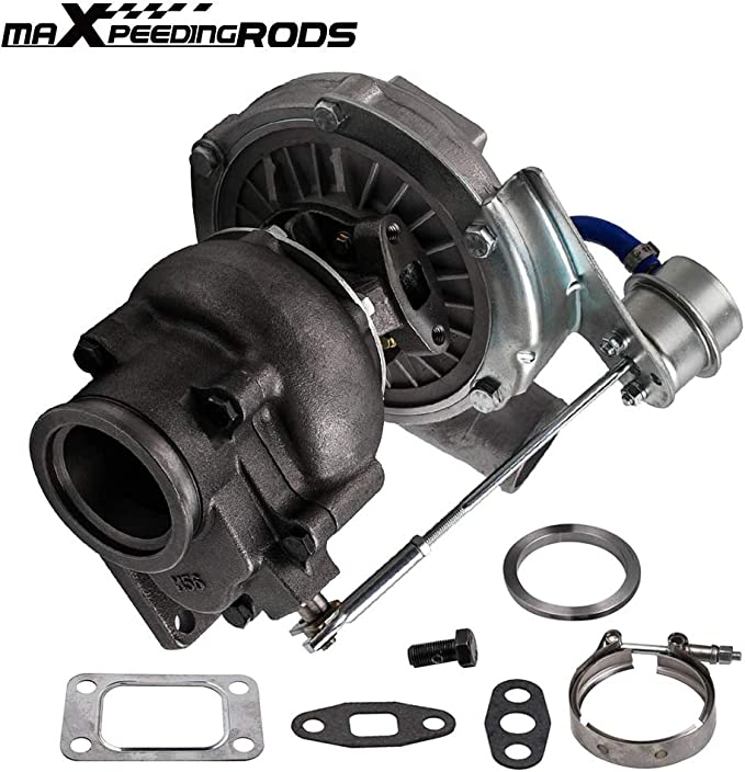 DNA Motoring TBC-T04E-63 Turbocharger with Waste gate Turbine 1 Pack
