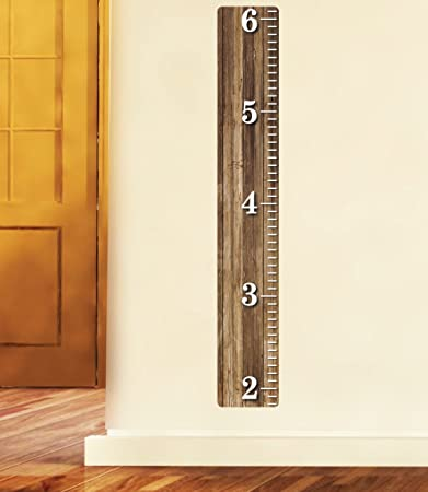 Amazon com weathered wooden ruler growth chart wood ruler height
