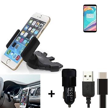 K-S-Trade® Top Set Compatible con OnePlus 5T Soporte Ranura ...