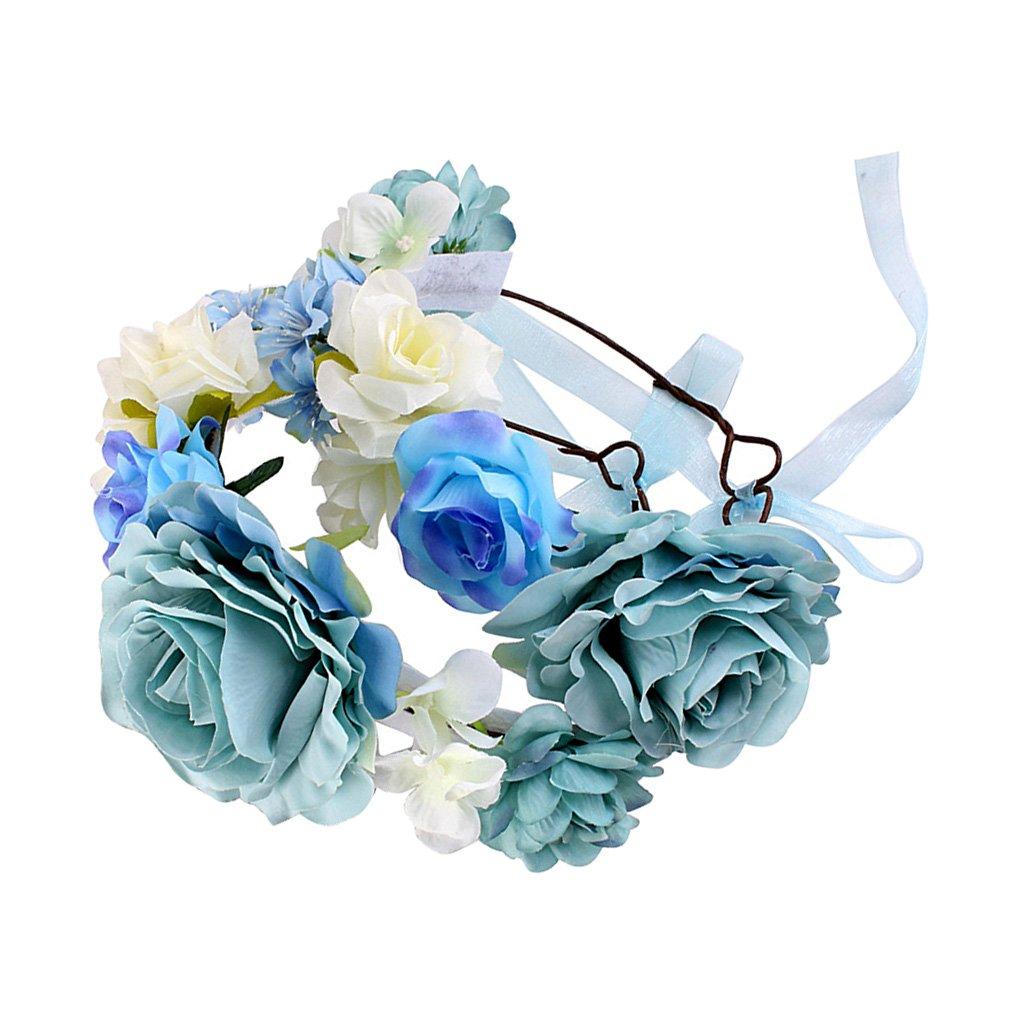 Sharplace Blumen Stirnband Blumenkrone Blumenkranz Boho Blumen