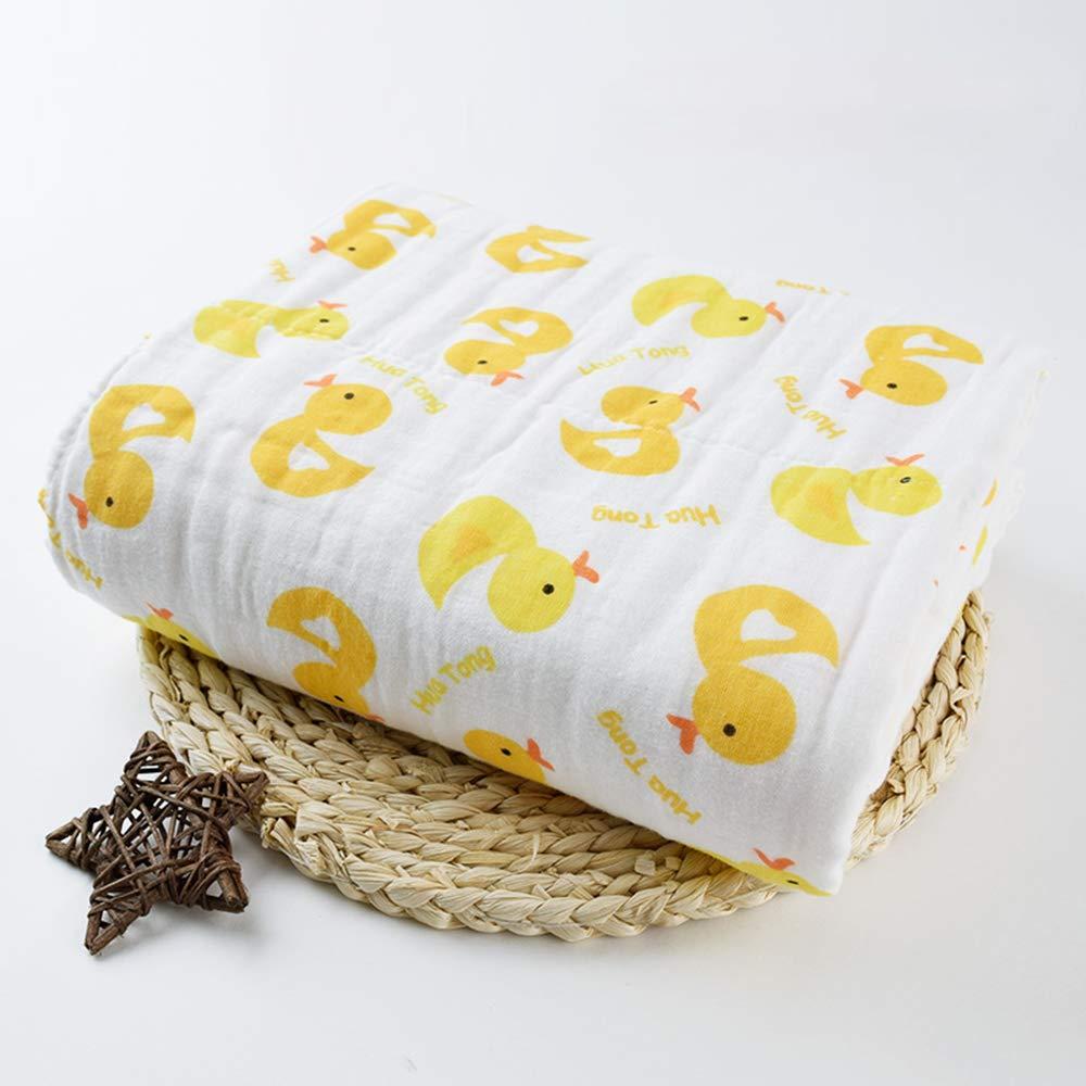 Ogquaton Yellow Duck Feeding Towel Handkerchief Towel 6-Layer Gauze Towel for Baby Yellow Duck