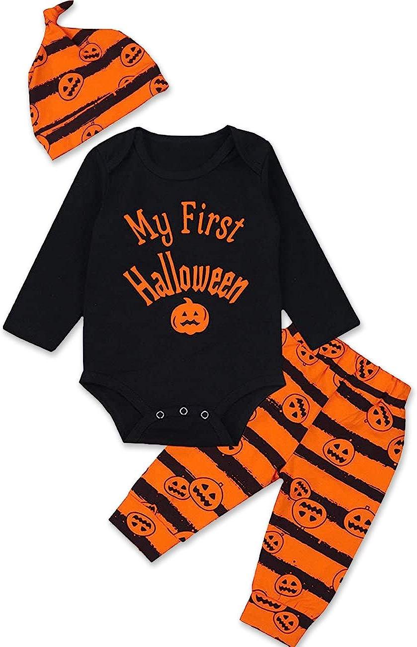 Unisex Newborn Bats My First Halloween Infant Bodysuit Baby Boy Girl Cute Halloween Outfit Costume 24 months