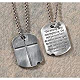 Dog Tag with Cross Pendant