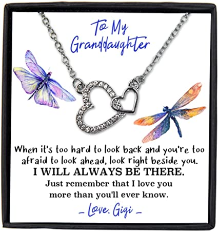 From Grandma To My Granddaughter With Box Message Card Granddaughter Necklace Jewelry For Granddaughter