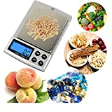 2018 New Portable Mini Digital Pocket Kitchen Food Scale With Larger Platform And Backlit LCD, Slim Design,Silver,500G/0.01G