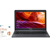 ASUS 2019 Cloudbook E203MA-FD017TS 11.6 Inch HD Laptop (Intel Celeron N4000 Processor, 64 GB eMMC, 4 GB Memory, Pre-Installed with Microsoft Office 365, Windows 10 S)