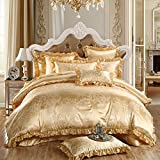 TheFit Paisley Textile Bedding for Young Adult W148 Gold Europe Duvet Cover Set