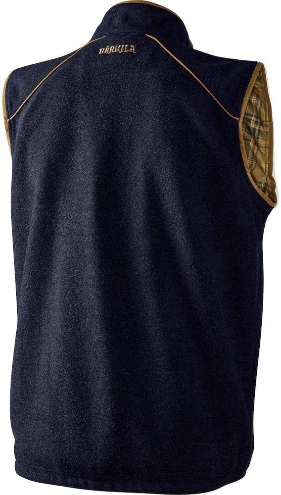 Harkila Mens Sandhem Warm Fleece Waistcoat Dark Navy Melange Thermal Warm Heat Layer Layers