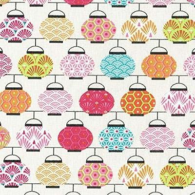 Textiles français Tela de algodón Estampada - Linternas Japonesas ...