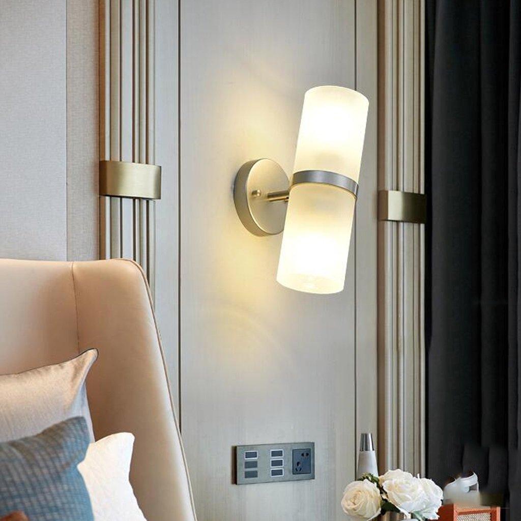 HLP Moderne und einfache Schmiedeeisen Wandleuchte Home Hotel Gang Doppelkopf Doppelkopf Doppelkopf Wandleuchte Kopf verstellbarer Winkel Verwendung mehr bequem d72161
