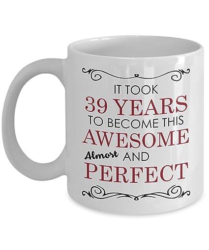 Amazon 39th Birthday Gift Mug
