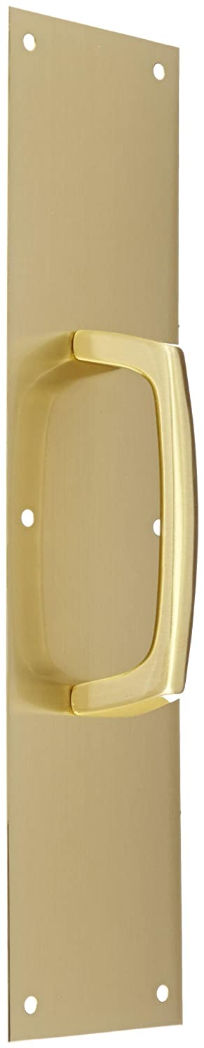 Rockwood 137 X 70C.4 Brass Cast Pull Plate Satin Clear Coated Finish 5-1//2 Center-to-Center Handle Length 16 Height x 4 Width x 0.050 Thick