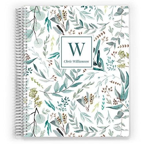 Customized 2018-2019 Weekly Planner, Weekly Planner, Weekly Planner, Week Planner, Life Planner, Foliage Pattern ()