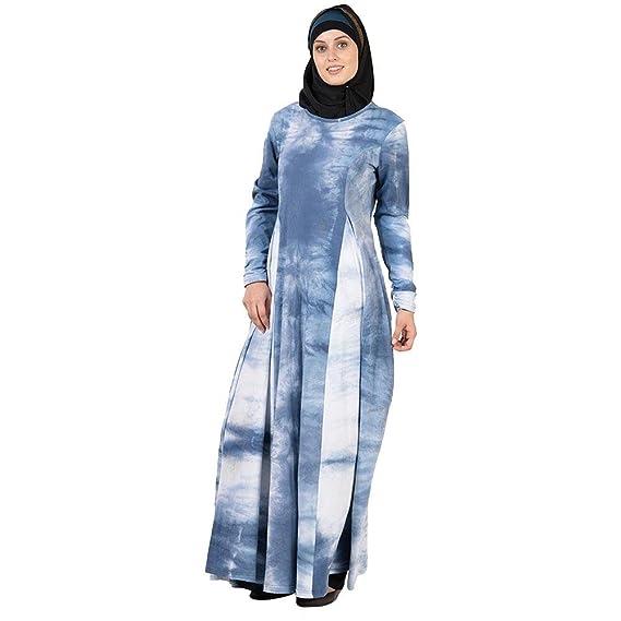 Blue /& White Tie Dye Abaya