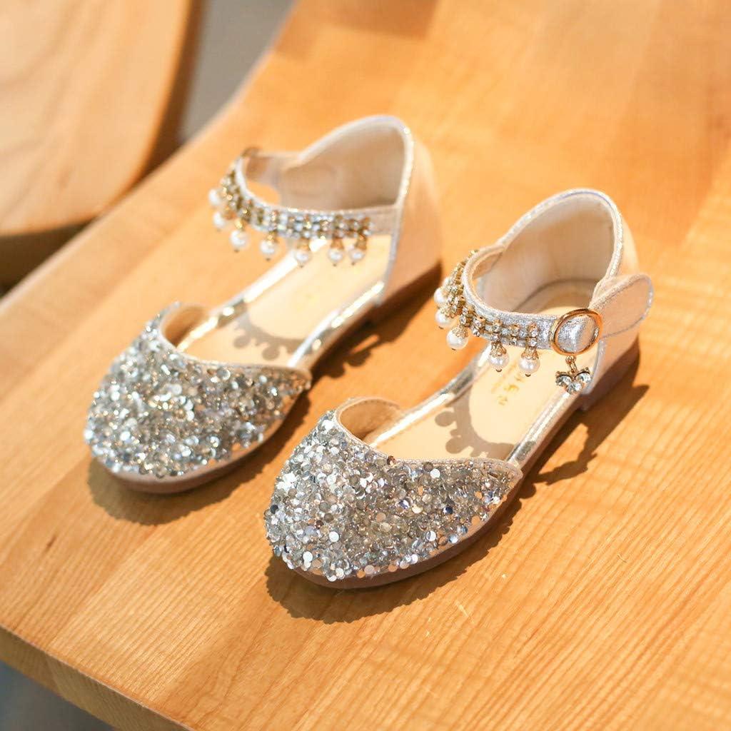 TIANRUN Little Girls Ballet Flats Toddler Sparkle Ballerina Wedding Party Princess Dress Shoes