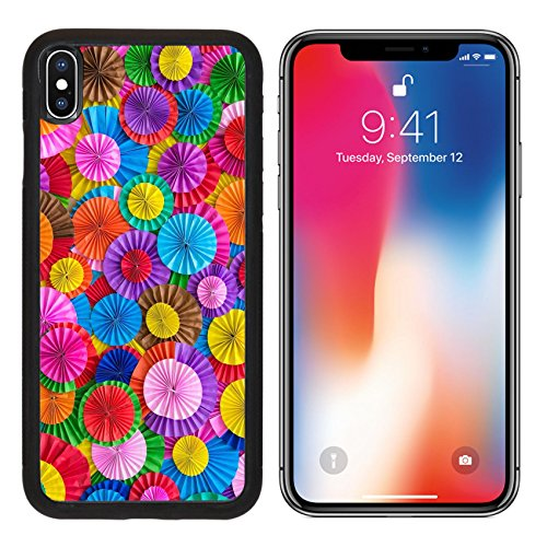 MSD Premium Apple iPhone X Aluminum Backplate Bumper Snap Case Paper folding multicolored abstract for background IMAGE 34130187