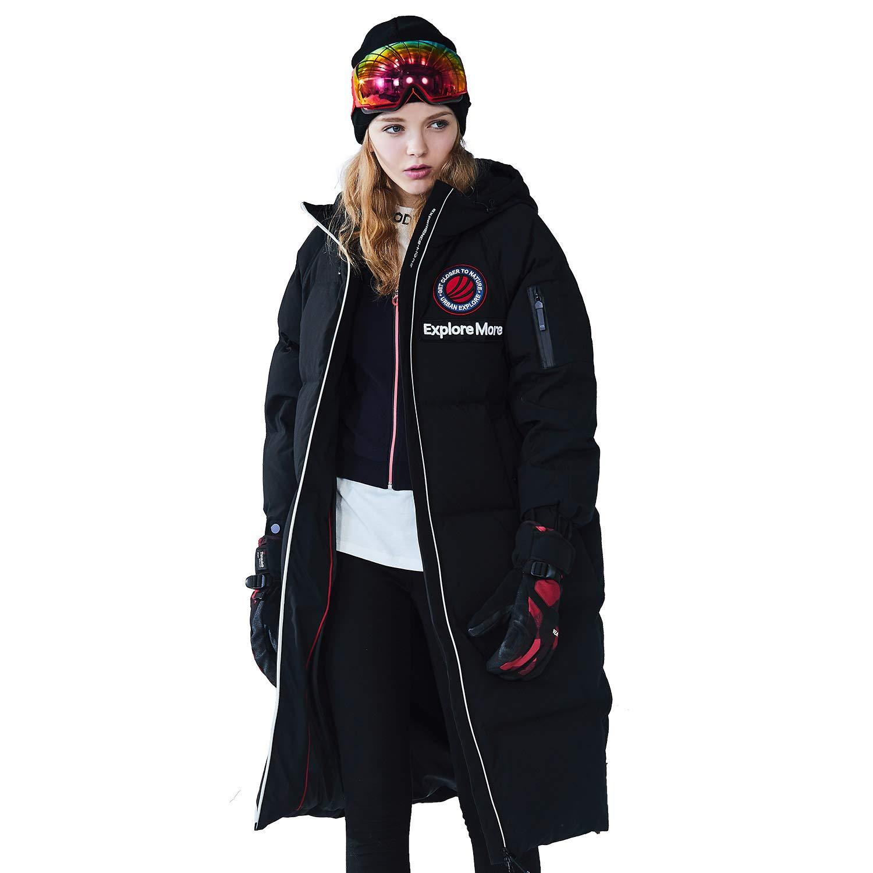 93bb37c36 Amazon.com: BOSIDENG Women's Harsh Winter Goose Down Jacket Hooded ...