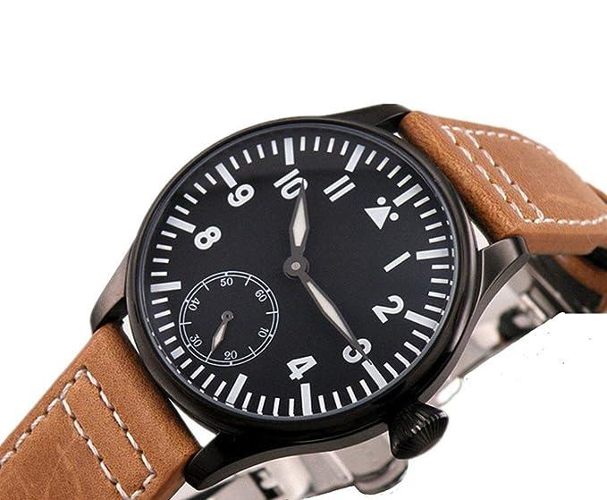 PARNIS 45 mm automático viento reloj mecánico Dial de cerámica verde bisel Militar reloj: Amazon.es: Relojes