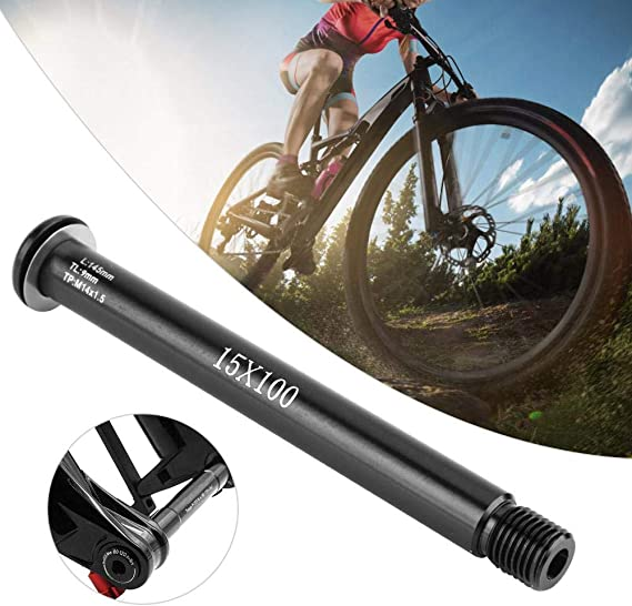 MTB Bicycle Front Fork Hubs Tube Shaft Axle Lever 100*15mm for ROCK SHOX Series