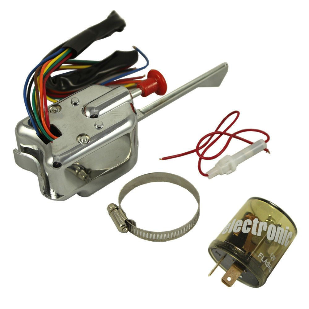 Perfectech Chrome 12v Universal Street Hot Rod Turn Empi Signal Switch Wiring Diagram For Ford Gm With Flasher Automotive