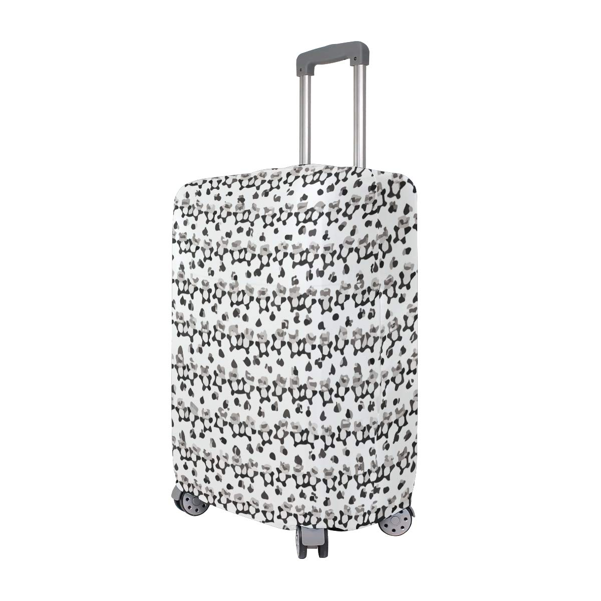 Panda Bears Paw Lying Cute Travel Suitcase Protector Zipper Suitcase Cover Elastic