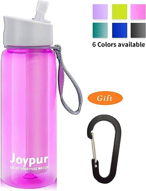 Joypur Botella de Agua con Filtro portátil - Purificador de Agua ...