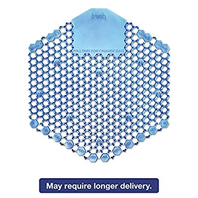 Fresh Products FRS 2WDS60 CBL Wave 3D Urinal Deodorizer Screen, Cotton Blossom, Blue (Pack of 10)