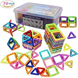 MarlaMall Magnetic Building Blocks, 70 PCS Magnet Tiles Set Educational Stacking Toys for Kids Over 3 Years Old