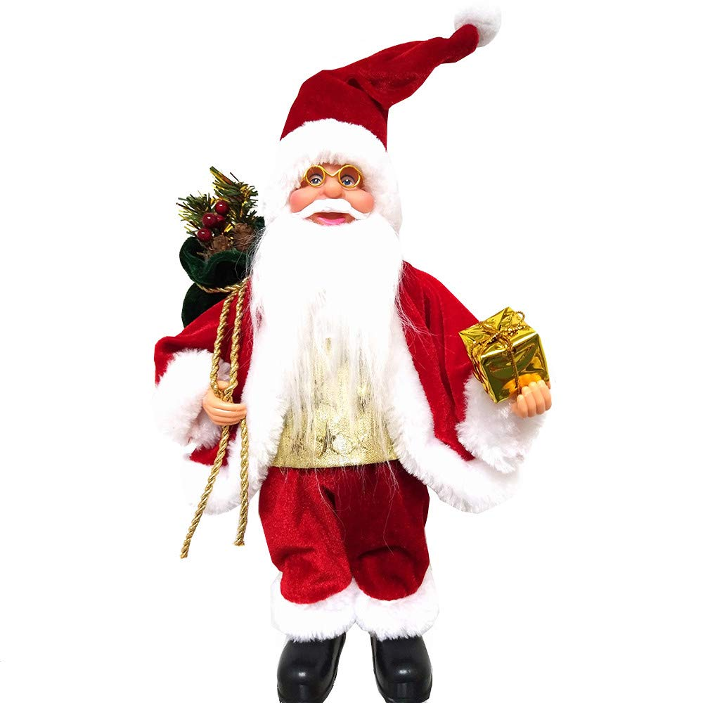 Christmas Santa Claus Doll Toy Decor Ornaments for Merry Chirstmas Home Decoration Gift (B)
