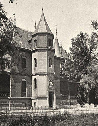 ARDENNES. Château de Bellevue, près Donchery - 1906 - old print - antique print - vintage print - Ardennes art ()