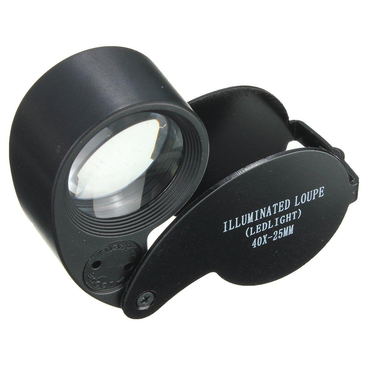 Jewelry And Watch - Eye Watch Magnifier Glass Led Light Jewelry Lens Loupe 25mm - 1PCs