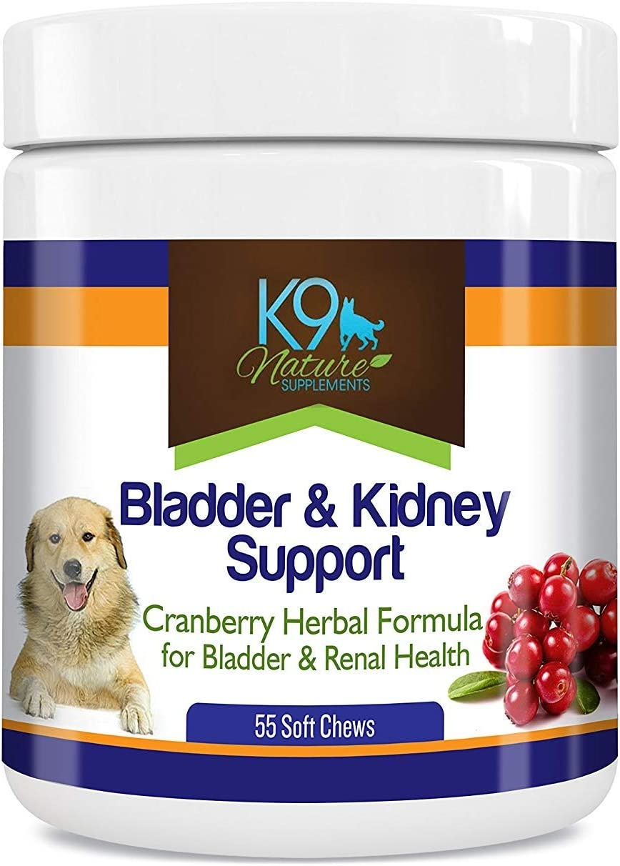 Amazon.com : K9 Bladder Support for Dogs - Cranberry Urinary Tract Dog UTI  Treats Incontinence Control Pills - no More Antibiotics Medicine for  Infection Treatment - Kidney Supplement 55 Chews Senior Vitamins : Pet  Supplies