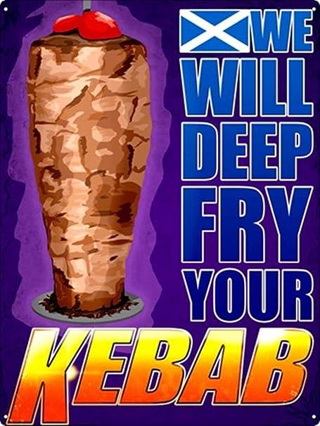 LORENZO Kebab Vintage Metal Cartel de Chapa Pared Hierro ...