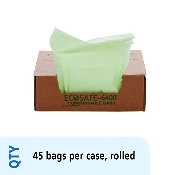 STOUT by Envision E2430E85 EcoSafe-6400 Compostable Bags, 24