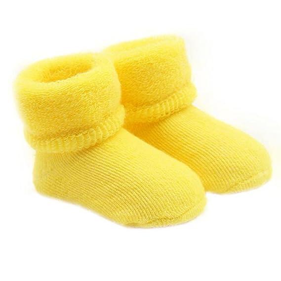 bismarckbeer - Calcetines - para bebé niña amarillo amarillo Talla única: Amazon.es: Ropa y accesorios