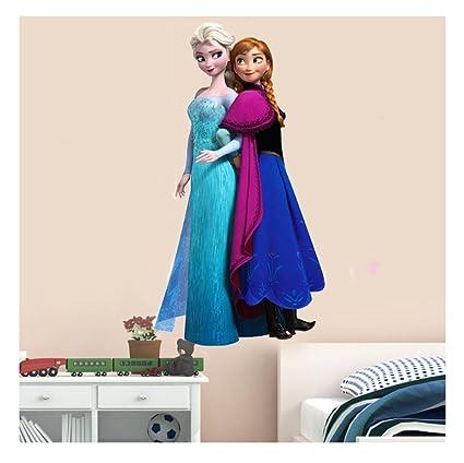 buy univocean frozen girl 3d wall poster wallpaper wall sticker rh amazon in Frozen Bedroom for Girls Purple Wallpaper for Bedroom