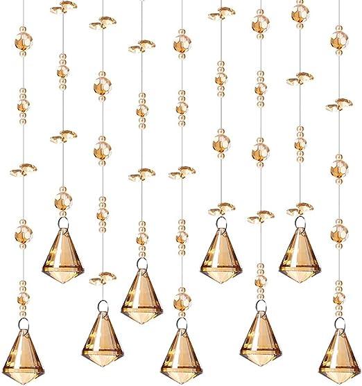 GuoWei-Cortinas de Cuentas Cristal Vaso Rosario Puerta Cortina Decoración Cuerdas Panel Personalizable (Tamaño : 15 strings-60x50cm): Amazon.es: Hogar