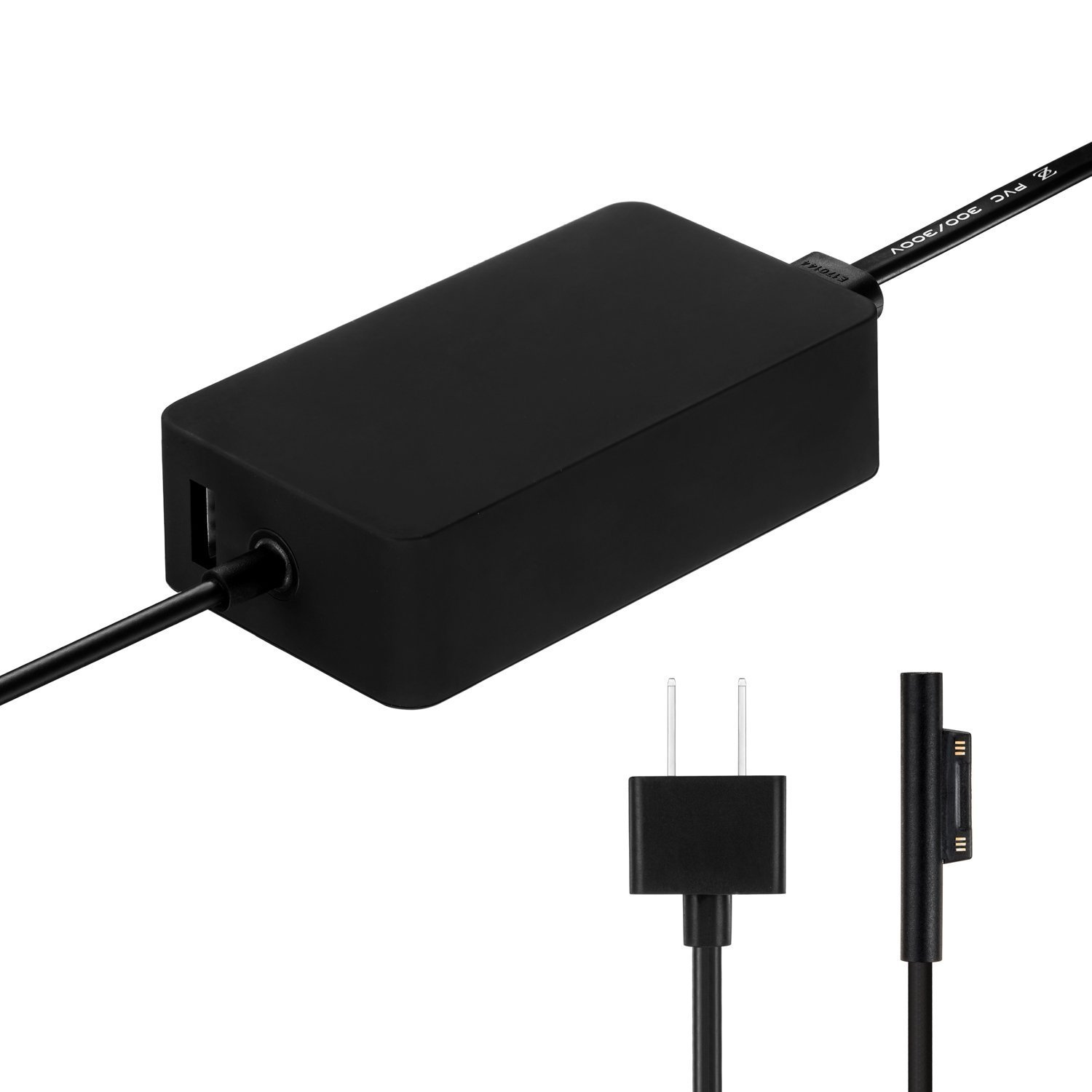 fits Model 1625(36W 12V 2.58A) Probrother Brand New Magnetic Replacement AC Power Adapter Charger For Microsoft Surface pro 3 Surface pro 4 Pro 5 with USB Charging Port and 6Ft Cord