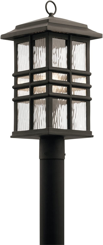 Kichler 49832OZ Beacon Square Outdoor Post, 1 Light Incandescent 150 Watts, Olde Bronze