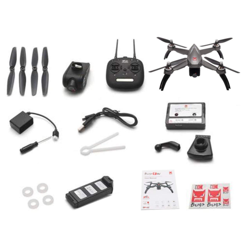Qewmsg MJX Bugs 5W B5W GPS Quadcopter RC Drohne mit 1080P 5G WiFi FPV Kamera Brushless Motor 2.4GHZ Fernsteuerungsflugzeug