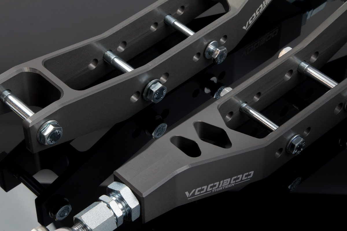 Voodoo 13 LOSC-0100HC Hard Anodize Clear Rear Lower Control Arm