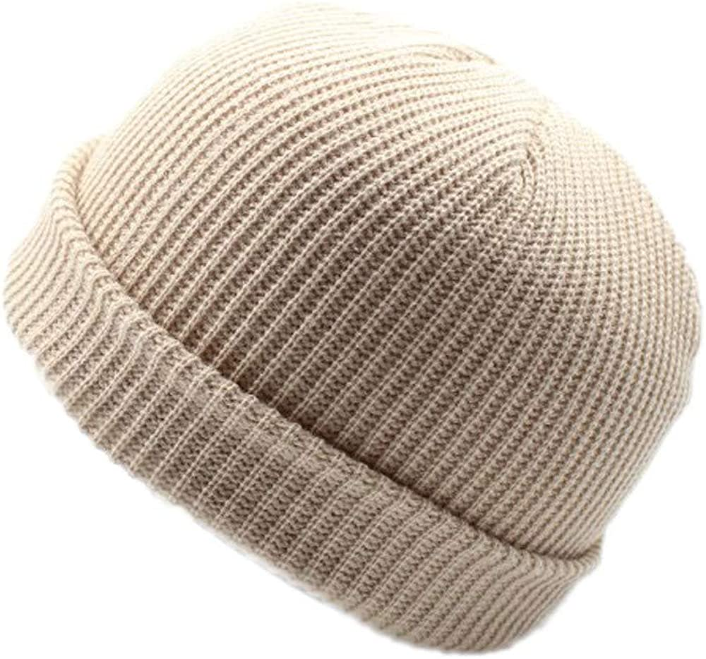 XGao Knit Hat Men Skull Caps for Men Knit Hats for Men Women Winter Womens Keep Warm Unisex Fashion Knitted Wool Hat Solid Color