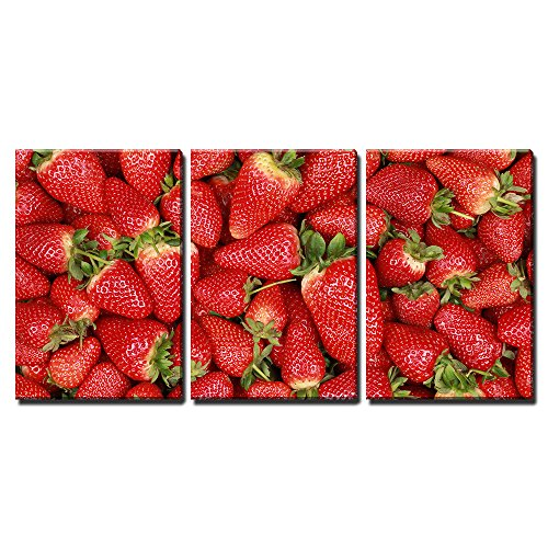 Buy strawberry print framed