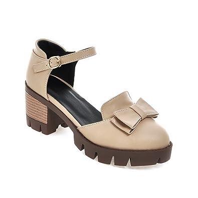 642711e36da8 BalaMasa Womens Sandals High-Heel Huarache Apricot Urethane Sandals  ASL04804-4.5 B(M