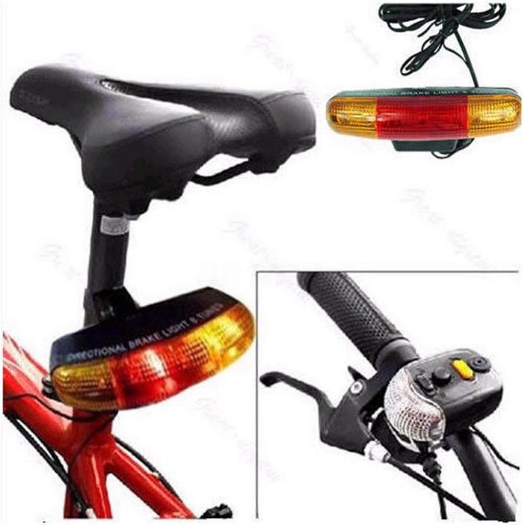 8 sonido Horn Se/ñal de giro de bicicleta Luz trasera recargable Sannysis Luz de Bicicleta Impermeable linterna Sistema de se/ñalizaci/ón para bicicletas 7 LED