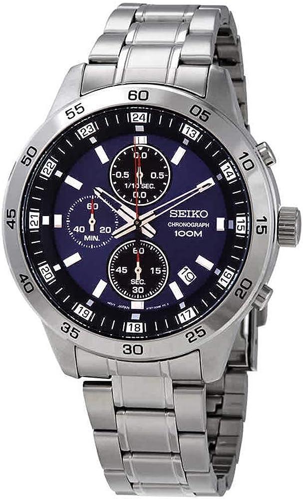 Seiko Neo Sports Reloj para Hombre Analógico de Cuarzo con Brazalete de Acero Inoxidable SKS639P1